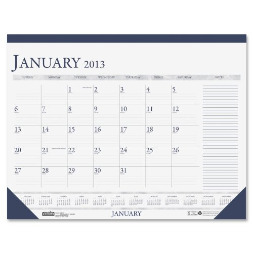 House of Doolittle Monthly Desk Pad Calendar, Non-Refillable, January-December, 2013, 22