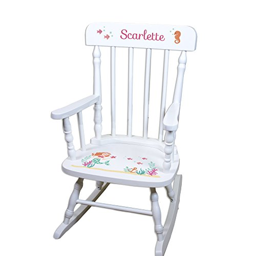 Children's Personalized White Mermaid Rocking Chair by MyBambino