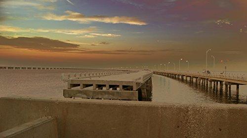 Skyway Pier #3 in St. Petersburg, Florida Photographic Canvas Print (48x24)