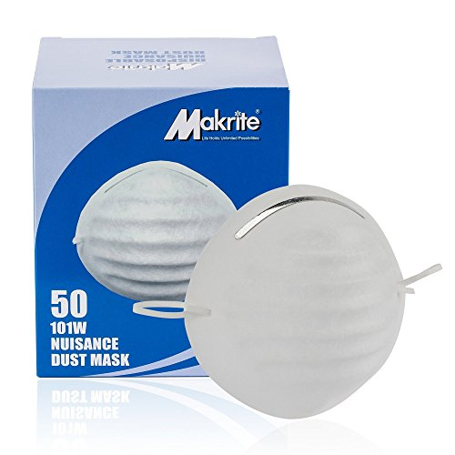 Makrite Nuisance Disposable Dust Filter Mask, One Size (Pack of 50)