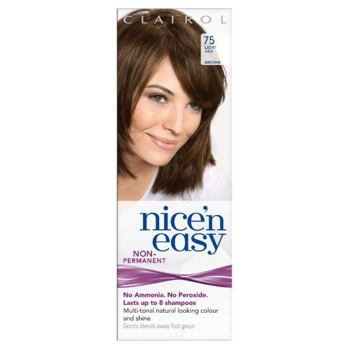 Clairol Nice'n Easy By Loving Care Non Permanent Hair Colour - 75 Light Ash Brown by Procter & Gamble
