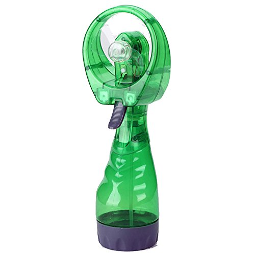 Deluxe Misting Fan, Handheld Misting Fan, Battery Operated Fan, Water Spray Fan, Mini Portable Desk Fan, Personal Cooling Fan for Outdoor, Fine Mist Sprayer for Kids Travel Beach Patio (Green) (Patio Mister T)