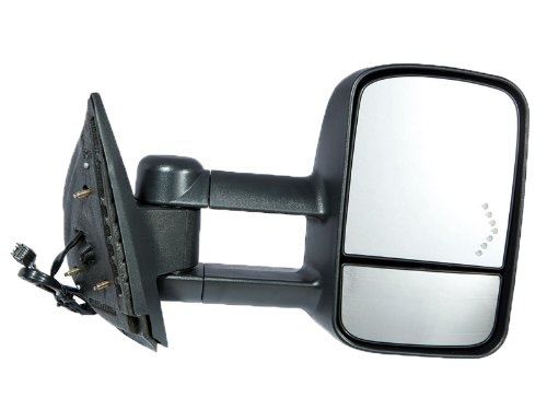 Fit System 62093G Chevrolet/GMC/Cadillac Passenger Side Replacement Towing Mirror with Dual Glass and Turn Signal ()