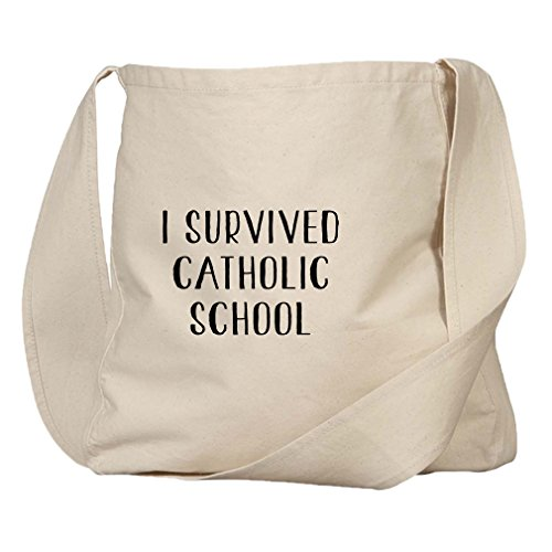 I Survived Catholic School Organic Cotton Canvas Market Bag Tote by Style in Print