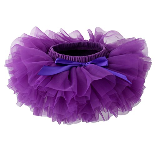 Slowera Baby Girls Soft Tutu Skirt (Skorts) 0 to 36 Months (XL: 24-36 Months, Purple)