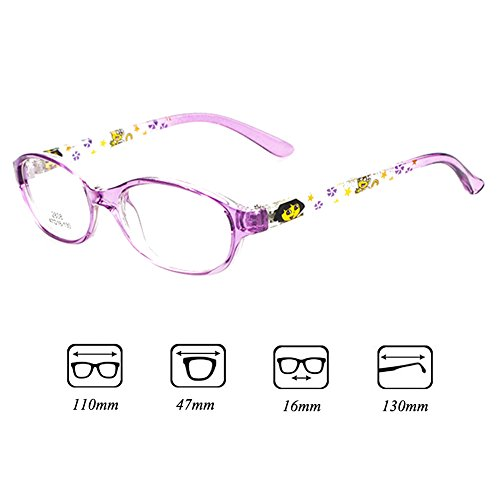 Lens filles pour enfants Cadre lunettes Clear pour rétro Garçons Lunettes pour Violet Juleya de Eyeglasses 112206 de lecture enfants wqpA8