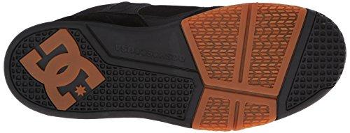 DC Mens Stag 2 Skate Shoe, Black/Dark Shadow/Green, 6 M US Nero/Gomma