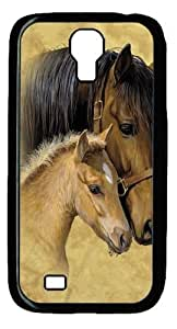 Cool Painting Gentle Touch Horse Polycarbonate Hard Case Cover for Samsung Galaxy S4/I9500