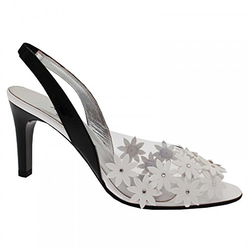 Heel 3 Back Design Sling White High Azuree Daisy Shoe q0fwt44c