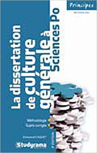 La dissertation de culture générale à Sciences Po pdf