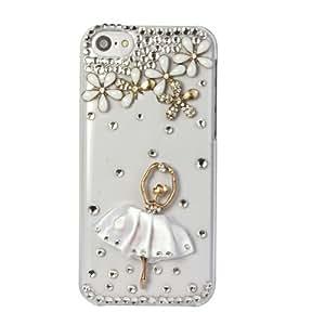 Nicerocker Eye-catching Elegant Luxury Bling Crystal Rhinestone Hard Case For all iphone (iphone 5C girl)
