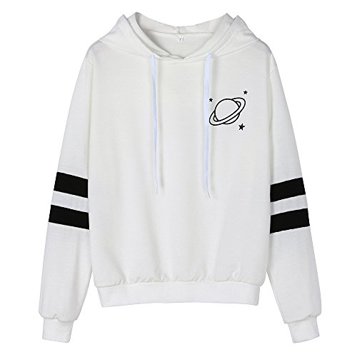 Lookatool LLC Fashion Womens Long Sleeve Sweatshirt Printed Hoodie Causal Tops Blouse ()