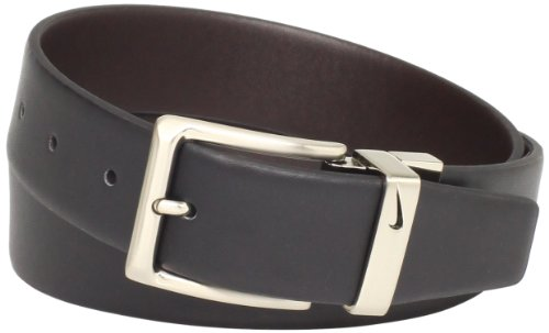Nike Men's Reversible Dress Belt, Black/Brown, 36
