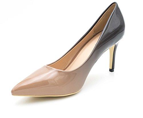 8cm Vestir Mujer Fashion Shoes Charol noir Zapatos De Beige qPPUwvz