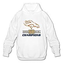 Men's Super Bowl 50 Champions Denver Broncos Hoodies White