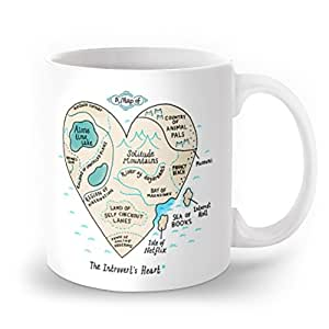 Society6 A Map Of The Introvert's Heart Mug 11 oz