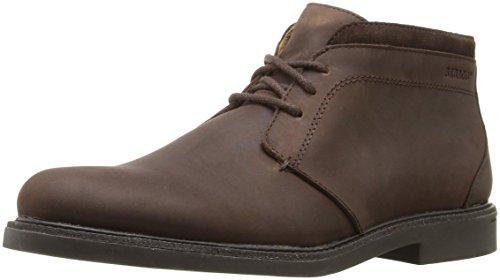 Sebago Mens Turner Chukka Waterproof Ankle Bootie Dark Brown Leather