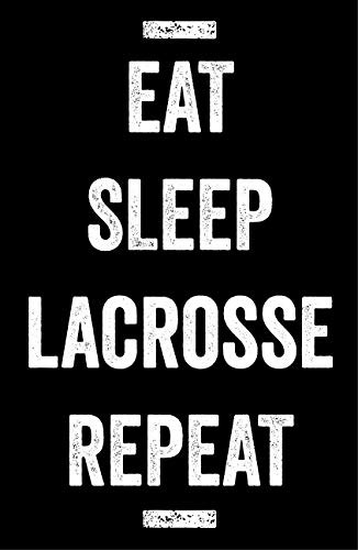 Damdekoli Eat Sleep Lacrosse Poster, 11x17 inches, Boys Room Wall Art, Kids Decoration, Fan Print, Motivational ()