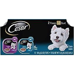 Cesar Canine Cuisine Wet Dog Food (12 Pack), Filet Mignon & New York Strip, 3.5 oz