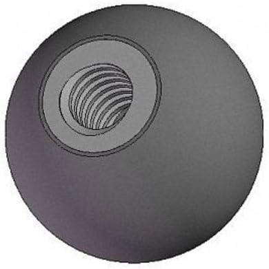 Steel 1//4-20 Thread Size 0.875L Ball Knob Soft Touch