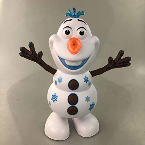 Nashion Electric Dancing Snowman Toy Music Lighting Walking Funny Toys Decorations Birthday Christmas Toys Gift Decorations (Not Included Batteries)