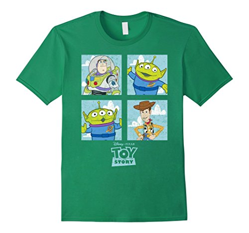 Mens Disney Toy Story Character Box Graphic T-Shirt XL Kelly (Disney Characters Male)