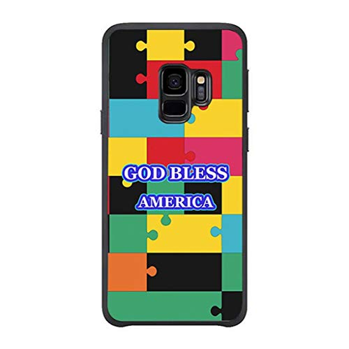 America Ladies Vanity - Women's Case Compatible Samsung s9, Angvander Unique god Bless America Pattern Protective Case Compatible Galaxy s9 Anti Slip Ultra Thin Luxury Design Hard Case Compatible Samsung Galaxy s9