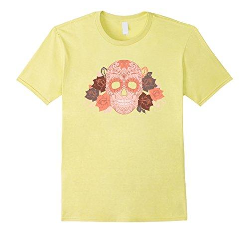 Mens Sugar Skull Halloween Dios de la Muerte Calavera T-shirt Medium (Muerte Sugar Skull Costume)