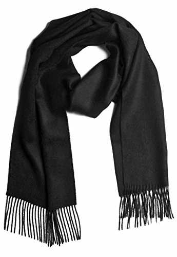 Pure Natura Baby Wool (100% Pure Baby Alpaca Scarf, Solid Natural Dye-free Colors (Black))