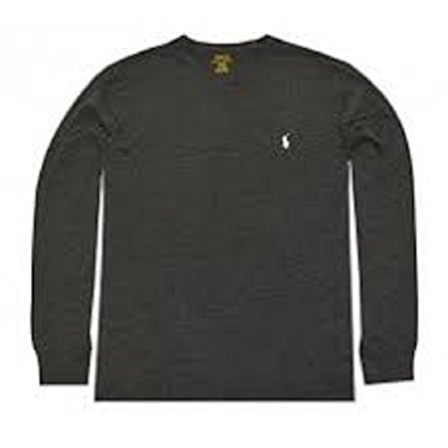 Polo Ralph Lauren Men's Long Sleeve Pony Logo T-Shirt - Small - Black Charcoal