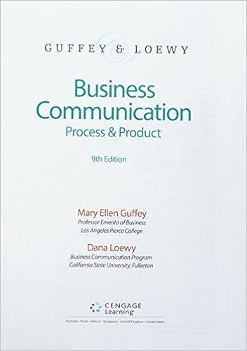 Bundle: Business Communication: Process & Product, Loose