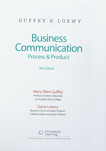 Bundle: Business Communication: Process & Product, Loose-Leaf Version, 9th + MindTap Business Communication, 1 term (6 months) Printed Access Card