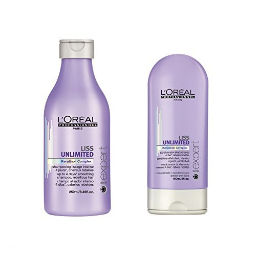 Loreal Professional Serie Expert Liss Unlimited Shampoo 250ml and Conditioner 150ml by L'Oreal Paris