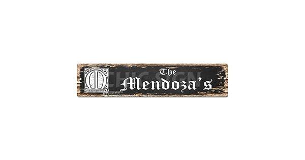 Amazon.com: Nombre de la familia del Mendoza Plate Sign ...