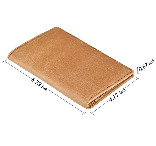 IDEAWIN Travel Passport Wallet Passport Holder RFID Block Leather Passport Cover by IDEAWIN (Image #4)