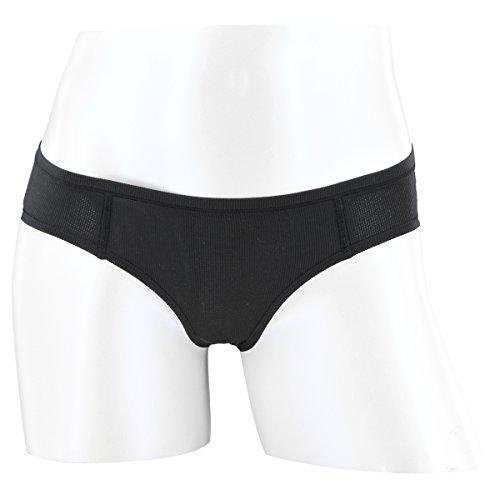 adidas Women's Superlite Thong Underwear, Black/Matte Silver, Small