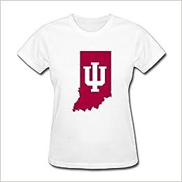 LLangla Women s Indiana University Map Indiana Hoosiers T Shirt XXL Apparel 02d6a8999