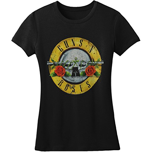 Bravado Guns N Roses Juniors Distressed Bullet T-shirt Black L Gun Tee