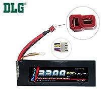 DLG 11.1V 2200mAh 3S 20C Burst 40C LiPO Li-Po High-Discharge Rate Powerful Battery with Dean's T Plug