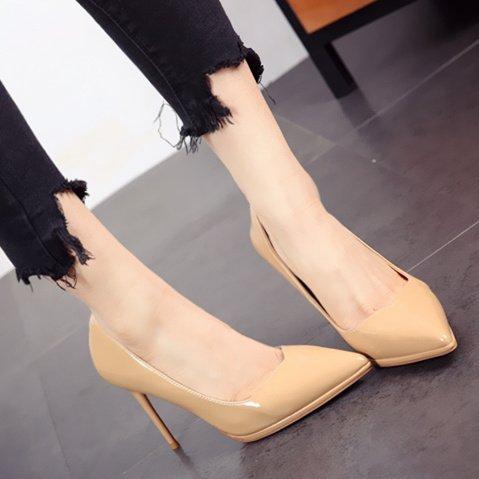 FLYRCX e moda sexy primavera in in in pelle estate a brevetto Punta stilettos scarpe scarpe alla donna di europea rqT6wxXgr