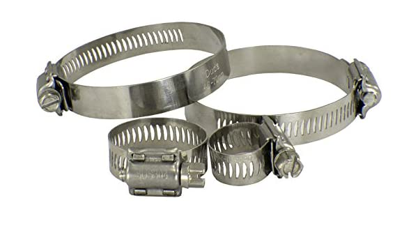 Duda Diesel HoseClamp-12.7-40-64-QTY5 304 Stainless Steel Hose Clamp 40-64mm 12.7mm Range: 1-9//16-2-1//2 5 Pack Band Width: 1//2 SAE 32, Band Width: 1//2 | 12.7mm, Range: 1-9//16-2-1//2 | 40-64mm, SS304 SUS304