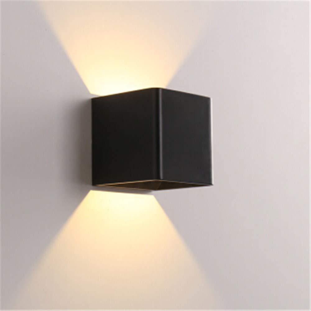 Schlafzimmer nachttischlampe wandleuchte einfache moderne LED mode neue art wohnzimmer flur gang wand TV wandleuchte [3019] sand schwarz 10  10 cm einfarbig warmes licht 5W
