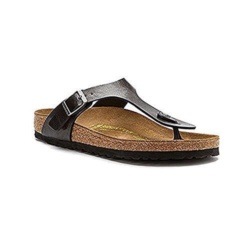 Birkenstock Women's GIzeh Thong Sandal, Licorice, 38 M EU/7-7.5 B(M) US