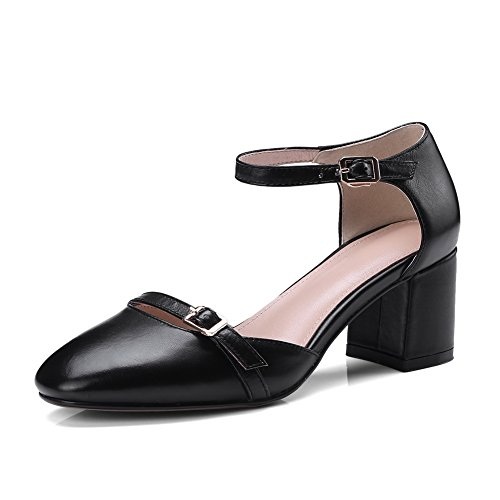 BalaMasa Womens Sandals Soft-Toe Huarache Urethane Sandals ASL04496 Black bRUkEa3ydy