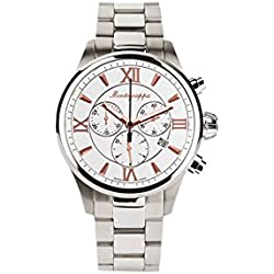 Montegrappa Fortuna Chronograph Men's Stainless Watch IDFOWCIR Swiss Made