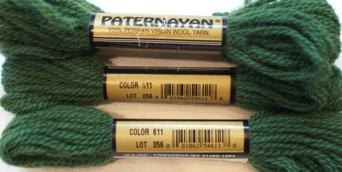 Paternayan Needlepoint 3 Ply Wool Yarn Color 611 Hunter Green Medium