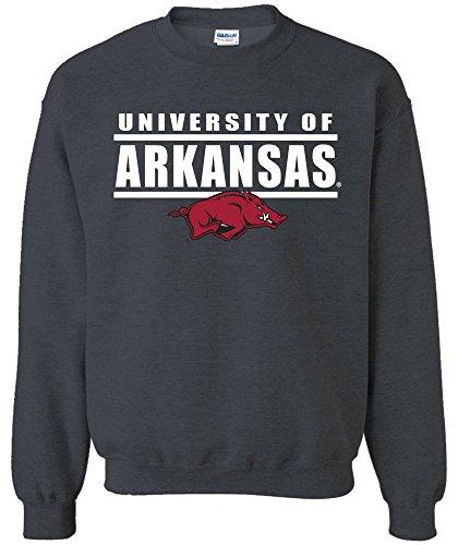NCAA Arkansas Razorbacks Adult Unisex NCAA Bars Logo Crewneck (Arkansas Razorbacks Logos)