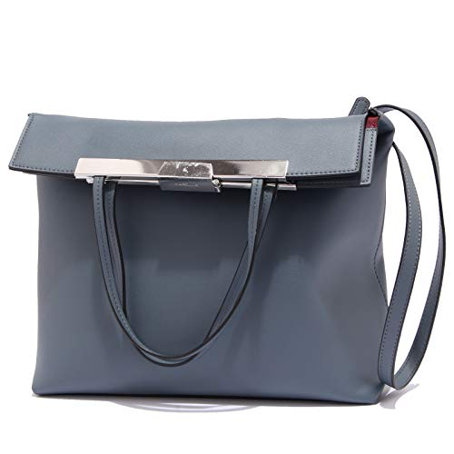 Marella 8176y Sac Shopping Femme Aimant Bleu Sac à Main en Cuir Eco Femme Bleu