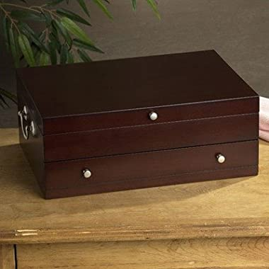 Wallace Dark Walnut Single Drawer Chest, 14.7 Inches