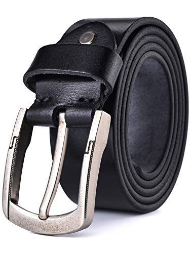 - Alice & Elmer Men's Belt Genuine Full Grain Leather Belts For Men Jeans Dress Casual Work Heavy Duty (Waist :36'', Black)